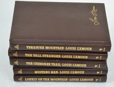 Louis L'Amour Leatherette Books Lot of 5, Treasure Mountain, Mustang Man etc #7