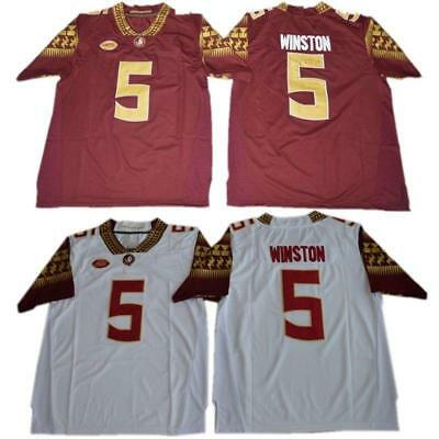 info for 46de7 bd10d Florida State Seminoles Jameis Winston 5 College Football Jersey Black Red  White