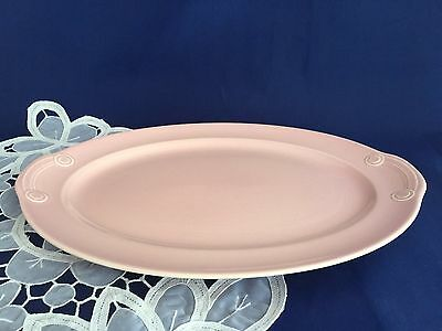T.S.&T LuRay Pastels Pink Collectible Lg Oval Platter 1938-1960 Vintage Pottery