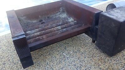 Electric Forced Air Fan + Cast Iron Fire Grate Heater Open Fire Vintage  Unusual
