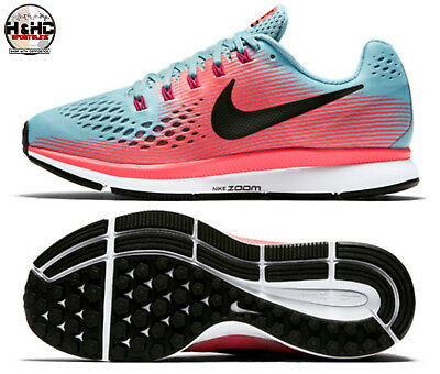 newest 75621 38c02 Nike Air Zoom Pegasus 34 Mica Blue Pink 880560 406 Women s Running Shoes Sz  7.5