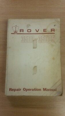 Genuine Rover 3500-3500S Factory Manual Akm3621 Not Haynes Used Cond Free P&p