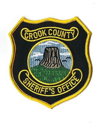 Crook County WY Wyoming Sheriff's Office patch - NEW!