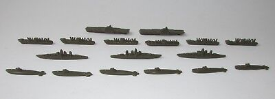 AXIS & ALLIES 1987 Game Replacement Parts BOATS SHIPS SUBS GREEN Complete Set