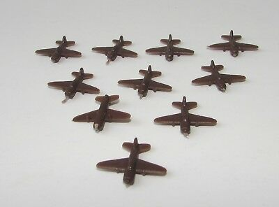 AXIS & ALLIES 1987 Game Replacement Parts  PLANES BROWN 10 Complete Set