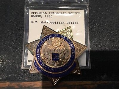 Rare D.c Metropolitan Police Official Inaugural Police Badge 1985 Must See No Re