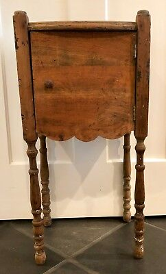 Vintage Wood SMOKERS CUPBOARD Cigar Humidor Smoking Stand Table