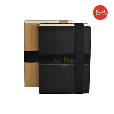 Kraft Hard Cover Bullet Journal Notebook Diary Planner Organizer 240pc Book