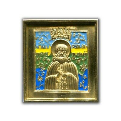 Seraphim of Sarov icon copper-cast icon of the XIX century.Reproduction.Copy