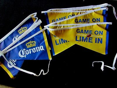 NEW Corona Game On Football Beer Party Pennant String Banner Flag T=20 Lime Bar