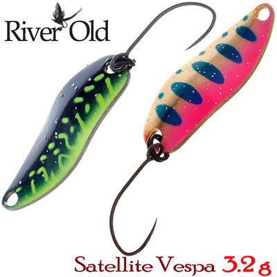 River Old Satellite Vespa 3.2 g Trout Spoon Assorted Colors