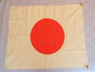 Vintage Original WW2 Japanese Meatball Cotton Flag Banner 36 x 29