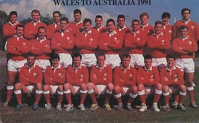Wales to Australia 1991 postcard with autographs