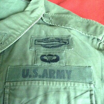 U.S. Army M-1951 Field Jacket C.I.B., Wings, 25th & 99th Patches