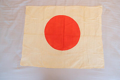Vintage Original WW2 Japanese Meatball Cotton Flag Banner 27 x 21