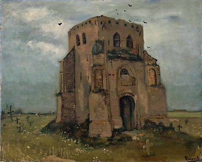 Vincent van Gogh, Churchyard & Old Church, 1885 Hand Painted Canvas Oil Painting
