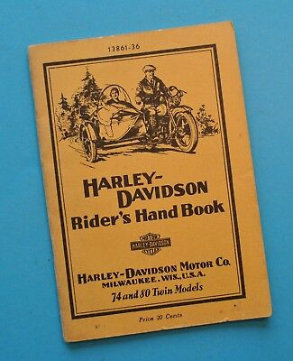 Original 1930s Harley Riders Hand Book Owners Manual VLD VDS VLH VHS VLDD VDDS