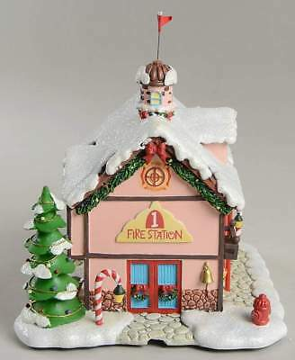 Hawthorne Village Rudolph's Christmas Town, Christmas town Fire Station   A2358