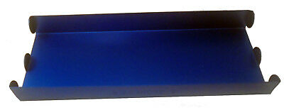 Blue Aluminum Nickel Coin Roll Storage Tray