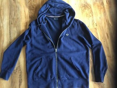 Fred Perry Hooded Jacket Xxl Navy