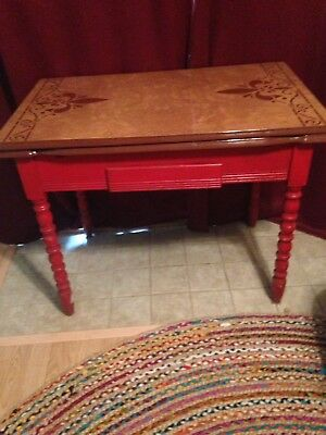 Vintage Enamel Top Art Deco Kitchen Table