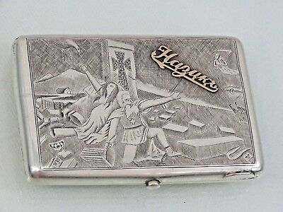 Historically Important Russian Silver Cigarette case ARMENIAN GENOCIDE MASSACRE