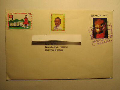 Brief Mail Briefmarken Stamps Panama gestempelt nach Texas / US
