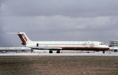 Civil Aircraft Slide- Md-83 Trans World Airlines N9306T - 1997  - Original