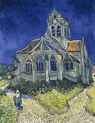 Vincent van Gogh, Church at Auvers, 1890, Hand Painted Canvas Oil Painting