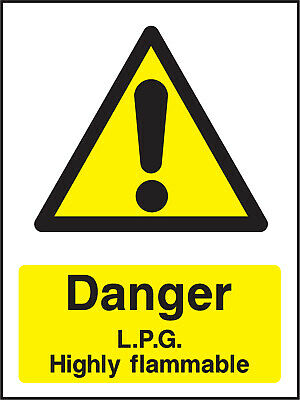 Warn0049 Danger Lpg Highly Flammable Sign Sticker Health Safety Warning