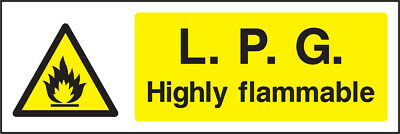 Warn0035 Lpg Highly Flammable Sign Sticker Health Safety Warning