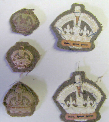 Original WWII CWAC Canadian Women's Army Corps - Cloth King's Crowns