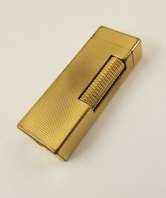 Dunhill Rollagas Gold Plated Butane Lighter US.RE 24163 Made in Switzerland