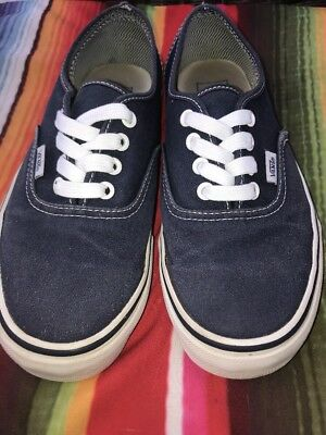 07f62ea918f7ab VANS OFF THE Wall Womens Size 7.5 Mens Size 6 Canvas Shoes Black ...