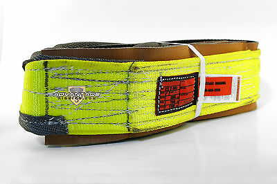 EE2-903 X8FT Cut Slip Resistant Nylon Lifting Sling Strap 3 Inch 2 Ply 8 Foot