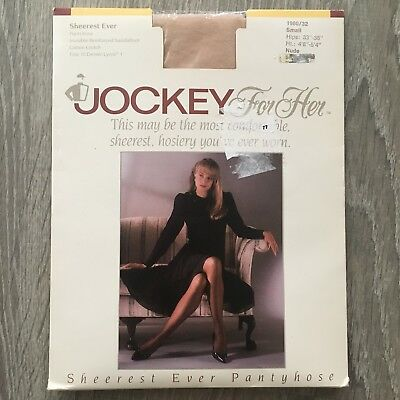 NEW Jockey for Her Sheerest Ever Pantyhose Size Small Nude Waist to Toe Q1