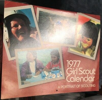 """""""Girl Scout"""" calendar; 1977; FINE; contains all 12 months; 10"""" x 17"""""""