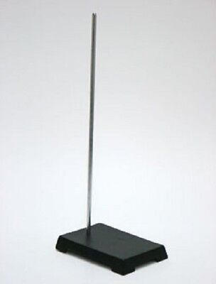 """150x100mm Cast Iron Support Stand w/18 Inch Chrome Plated Rod - 4x6"""" Base"""
