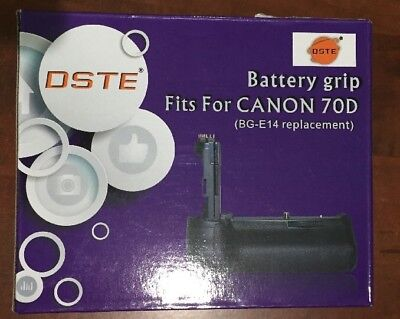 DSTE Pro BG-E14 Battery Grip + 2x LP-E6 for Canon EOS 70D 80D Camera