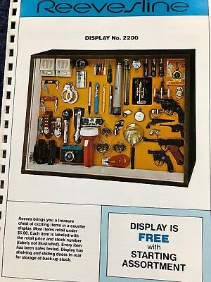 Reevesline Novelty Spy & Private Eye Equipment Catalog Pages, Badged, Dice, Etc.
