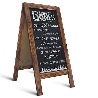 """Rustic Magnetic A-Frame Chalkboard Sign/Extra Large 40"""" x 20"""" Free Standing"""