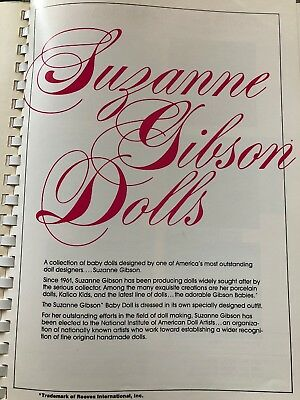Suzanne Gibson Dolls Catalog Pages From 1980 Vintage Reeves Catalog