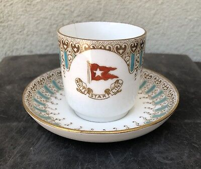 White Star Line First Class Demitasse Coffee Cup & Saucer