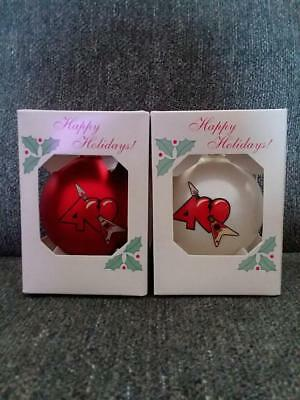 Lot of Two 2017 Tom Petty and Heartbreakers 40th Tour Christmas Ornaments