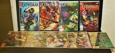 DC comics Catwoman #1-2-3-3-11-14-16-20-28 NM
