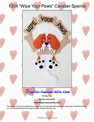 Wipe Your Paws-Springer Spaniel Dog-Plastic Canvas Pattern or Kit
