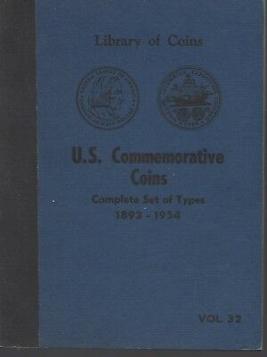 Library of Coins Album US Commemorative Coins Type Set  1892-1954   USED