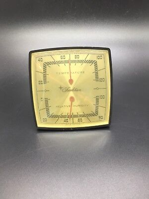 Vintage Sears Roebuck Temperature And Humidity Gauge Works Perfectly Usa