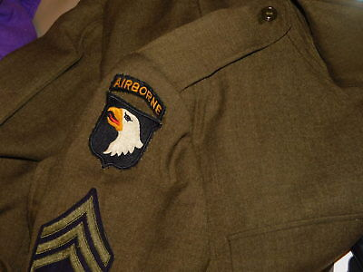 AUTHENTIC US Army 101st airborne patch WWII WW2 Exc cond. Fresh to market!