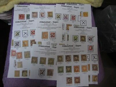 Stamps Germany Lot: Lot Altdeutschland-Bayren November 1, 1849-Early 1900